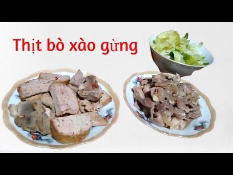 Thịt bò xào gừng|MÓN NGON MẸ LÀM