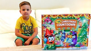 Roma Opens Advent Calendar with Crayola surprise