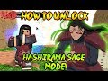 How To Unlock HASHIRAMA SAGE MODE! (Final Valley Location) | Naruto RPG: Beyond