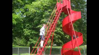 Spiral Slide in Crapo Park Burlington Iowa