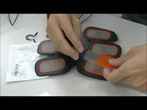 SIXPAD2-ABSFIT2の電導ジェルを貼ってみました。