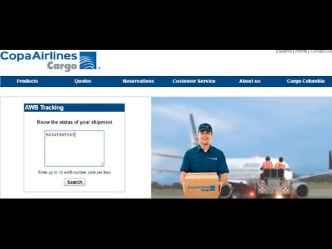 COPA Cargo Tracking,COPA Air Cargo Tracking Status