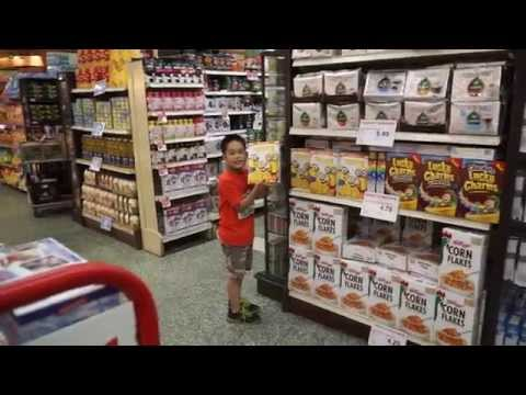Shopping at IGA Grocery store, Montreal, Quebec, Canada