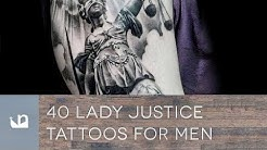 40 Lady Justice Tattoos For Men