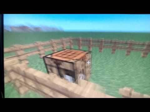 Cмотреть видео онлайн Как скрафтить забор лестницы калитку легко