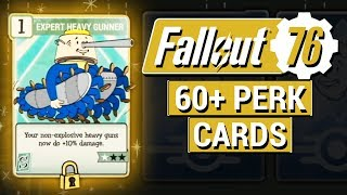 FALLOUT 76: 60+ NEW Perk Cards REVEALED in Fallout 76!! (Detailed Descriptions and Analysis)