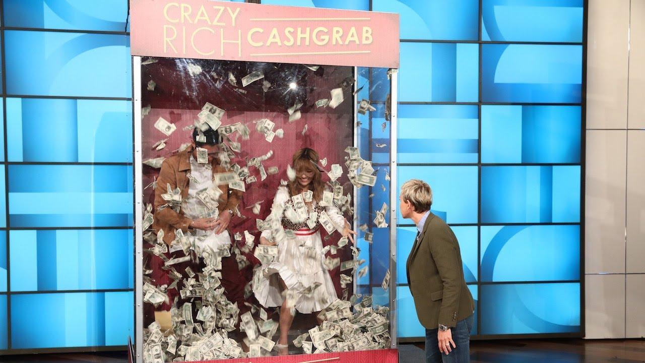 Constance Wu & Henry Golding Have a 'Crazy Rich Cash Grab'