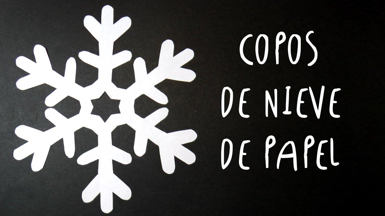 Manualidad como hacer COPOS DE NIEVE de PAPEL by ART Tv SUPER FACIL ...