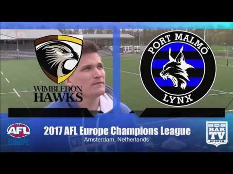 2017 AFL Europe's European Champions League - Women's Grand Final - Wimbledon Hawks v Port Malmö