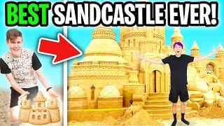 We Built a LEGENDARY SANDCASTLE in SANDCASTLE SIMULATOR! (SANDCASTLE PROS!)