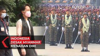 Indonesia Desak Myanmar Menahan Diri Usai Menahan Aung San Suu Kyi