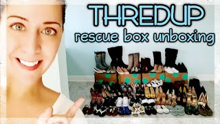 SHOE Edition: ThredUp Reject Rescue Mystery Box - 50 pairs of shoes!