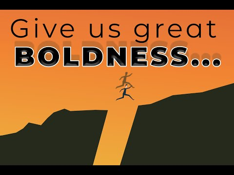 sermon image for Give us great boldness.  New audio.