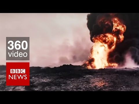 Poisoned Ground: a journey to Iraq's burning oil fields (360 video) - BBC News