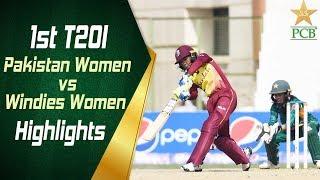 1st T20I | Pakistan Women vs Windies Women at Karachi | Highlights | PCB