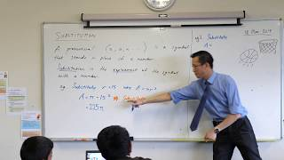 Algebraic Substitution (2 of 2: Worked examples)