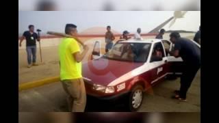 "Taxistas manifestandose por ""gasolinazo"" en malecón de Coatzacoalcos | Coatza Digital"