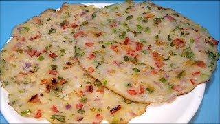 सुबह का नाश्ता या बच्चों का टिफिन 5 मिनट में तैयार ये टेस्टी नाश्ता -Suji Ka chella- Sangita Agarwal