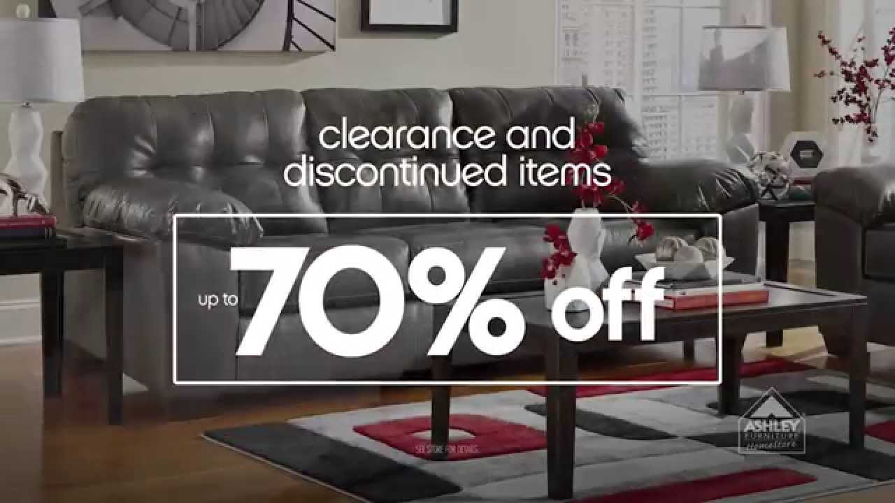 Ashley Furniture Homestore Annual Tent Blowout Up To 70 Off Clearance Discontinued Items