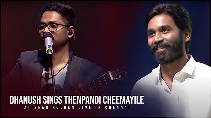 dhanush sings thenpandi cheemayile at sean roldan live in chennai  silver tree