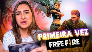 MINHA PRIMEIRA VEZ NO FREEFIRE!