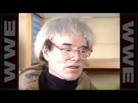 Mean Gene Okerlund interviews Andy Warhol WWF