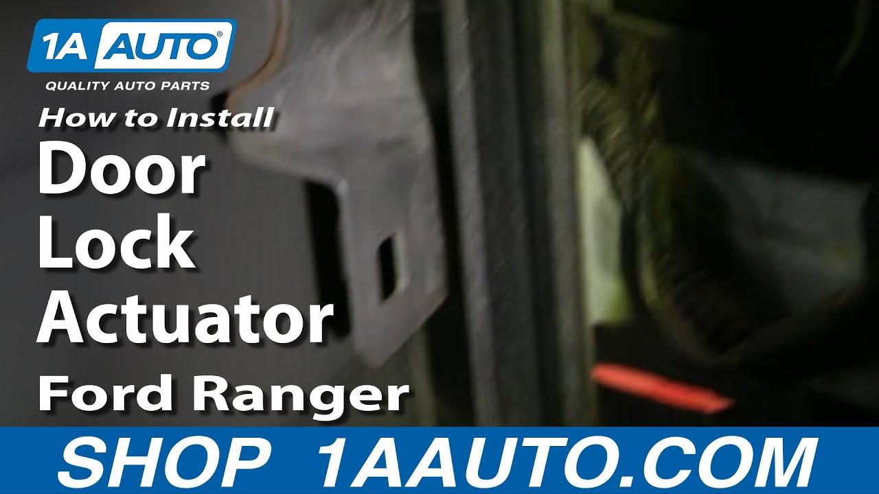 medium resolution of how to replace door lock actuator 99 10 ford ranger