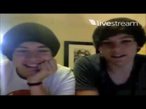 Louis Tomlinson and Harry Styles Twitcam