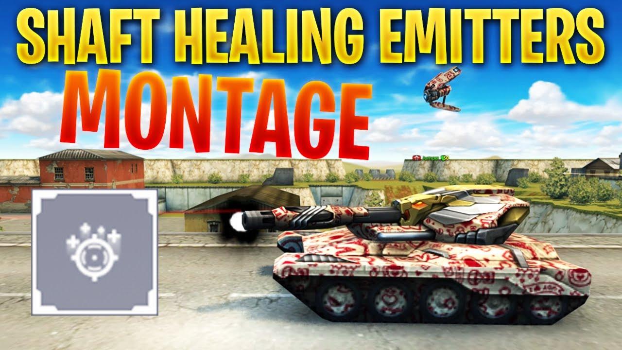 Tanki Online - Shaft NEW Healing Emitters Augment Montage! | OP Augment?!