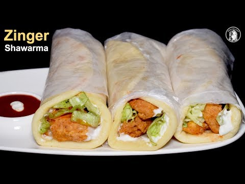 Easy Fast Recipes- Zinger Shawarma Recipe