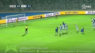مولودية وجدة 2-2 الرجاء الرياضي هدف محسن متولي من نقطة الجزاء في 72