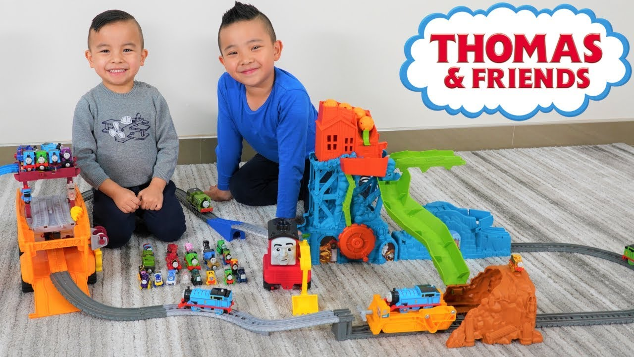 Our LONGEST Thomas and Friends Track With Cave Collapse and Super Cruiser CKN Toys