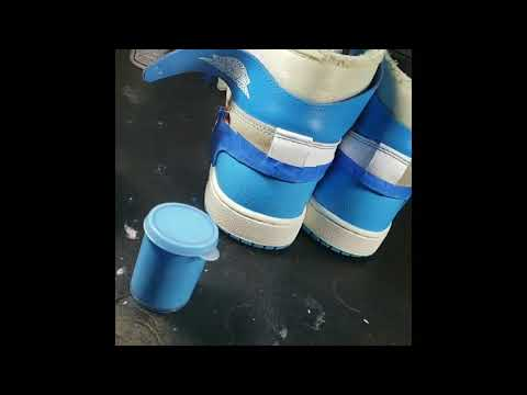 Jordan 1 Off White Unc  ... Deep Clean, Repaint, Restoration