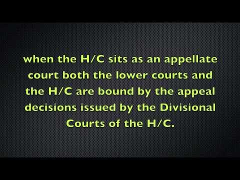 The Court Hierarchy and Judicial Precedent