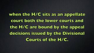 The Court Hierarchy and Judicial Precedent