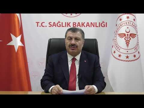 Sağlık Bakanı Dr. Fahrettin Koca Genişletilmiş Başkanlar Kurulumuza  Video Mesaj Gönderdi