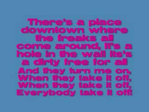 Kesha / Ke$ha-Take it off lyrics on screen and download ♥♥