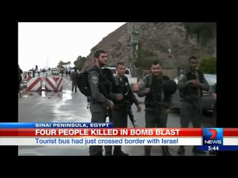 Tourists killed in Egypt bomb blast