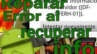 Reparar: se produjo un error al recuperar información del servidor de Google Play Store
