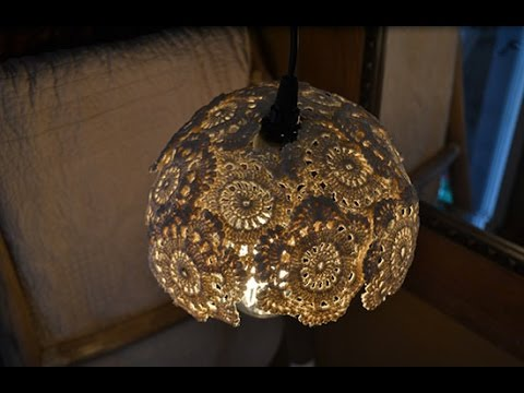 diy vintage inspired doily hanging lamp youtube - Diy Hanging Lamp