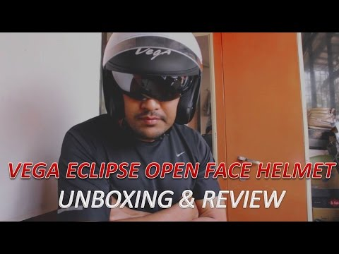 Vega Eclipse Open Face Helmet UNBOXING & REVIEW