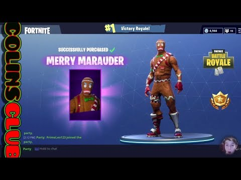Fortnite Battle Royale & Buying GingerBread Man Outfit