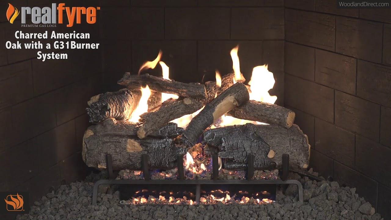 Real Fyre Charred American Oak Gas Log