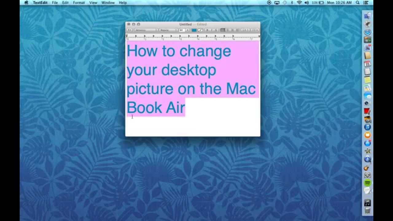 how to change your desktop picture on your mac book air