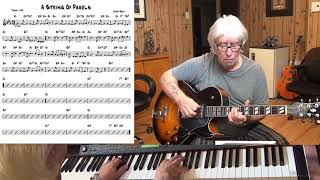 A String Of Pearls - Jazz guitar & piano cover ( Jerry Gray )