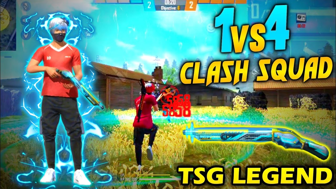 FREE FIRE : SOLO VS SQUAD KATTHA CHALLENGE IN CLASH SQUAD || OP ONE TAP'S || OP GAME EVER❤️