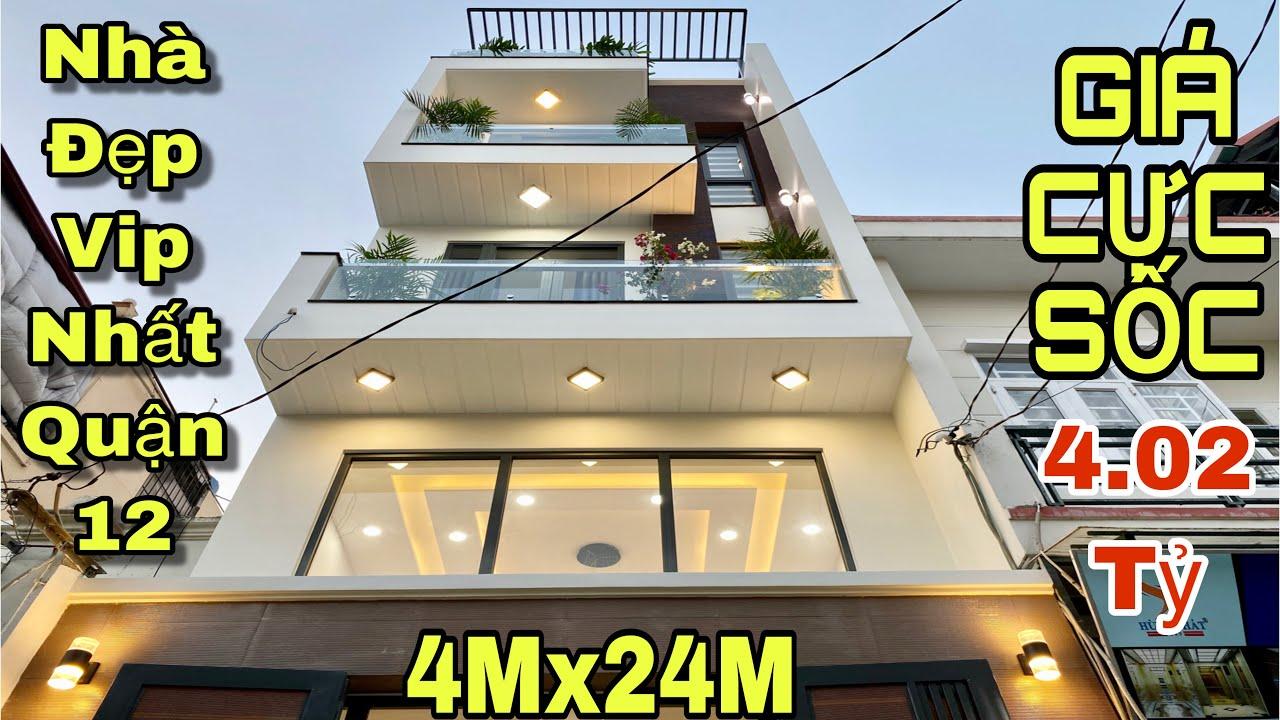 Bán nhà quận 12| Nhà đẹp 2 lầu DT khủng khiếp 4x24m tại đường Hà Huy Giáp|giá rẻ