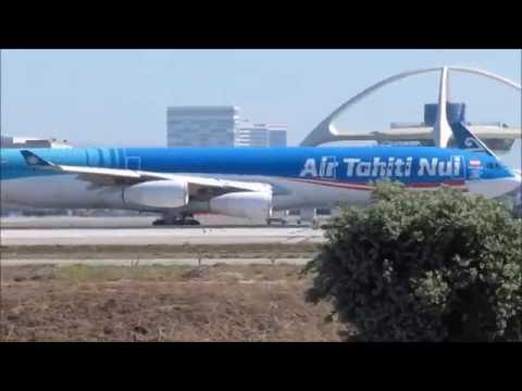 HEAVY LAX HEAVIES Los Angeles LAX Plane spotting - 40 Mins of Wide Body Aircraft