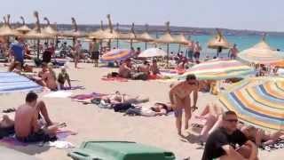 Am Strand Playa de Palma, El Arenal Mallorca / Majorca