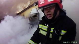 Работа пожарных Москвы.